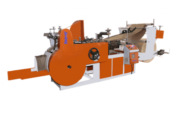 Grocery paper bag making machine