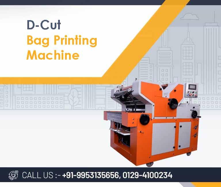 D-cut bag printing machine